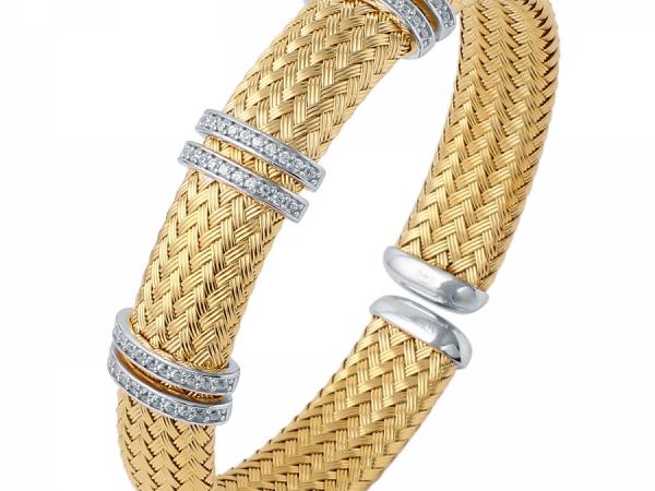 Charles garnier ferrara cuff cg mlc8012ywz bracelets for Story jewelry gonzales tx