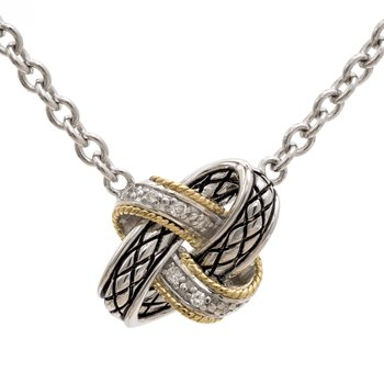 Andrea Candela Diamond Love Knot Necklace by Andrea Candela