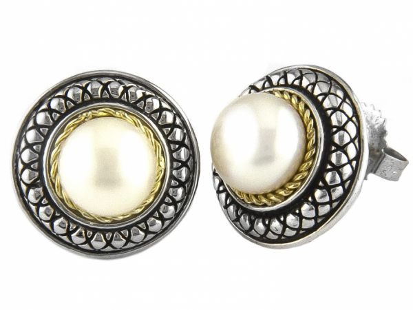 Andrea Candela Pearl Studs by Andrea Candela